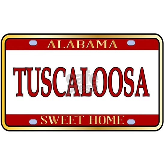 Tuscaloosa City Alabama State License Plate