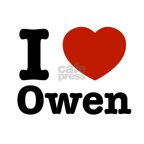 """I love Owen 3.5"""" Button by rogerthat - CafePress"""