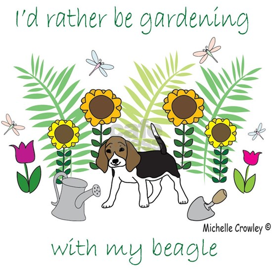 id rather be gardening with my dog..
