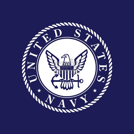 US Navy Emblem Blue White