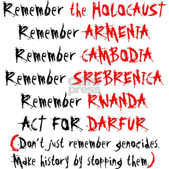 dont just remember genocides, act
