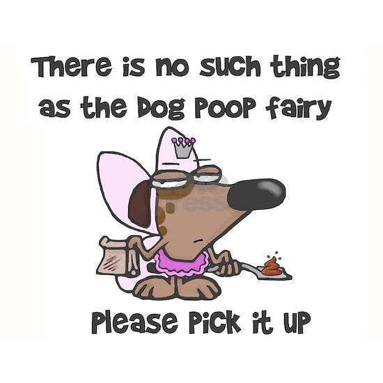 Dog poop fairy yard sign