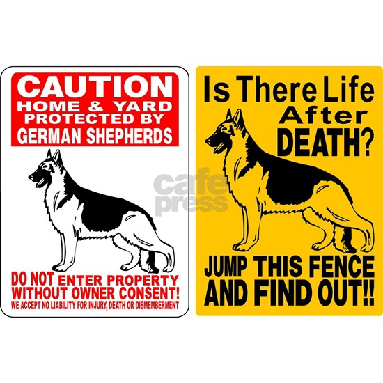 (2) GERMAN SHEPHERD DOG SIGNS