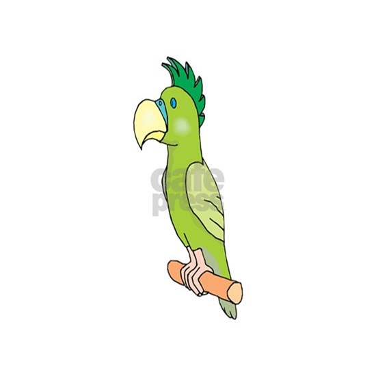 Green cute Parrot cartoon