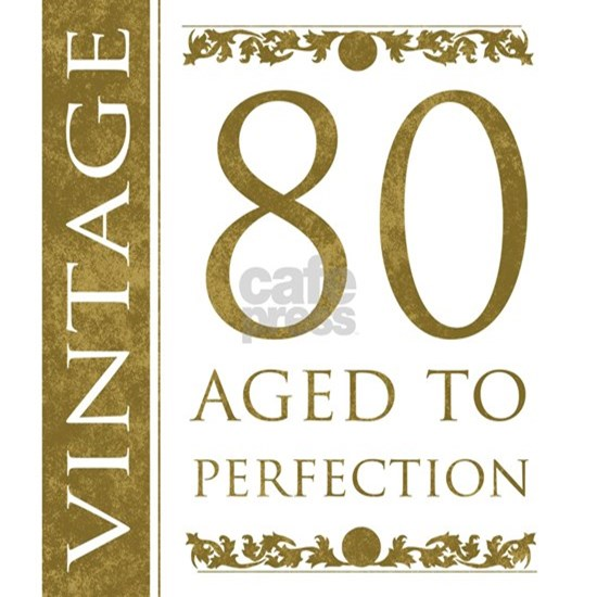Fancy Vintage 80th Birthday