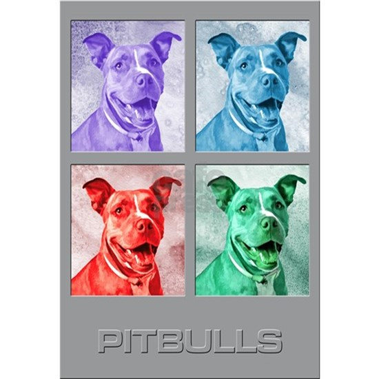 Homage to Warhol Pitbulls