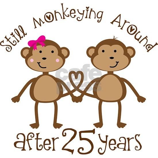 40044d68 25th Anniversary Love Monkeys Banner by HomewiseShopper - CafePress