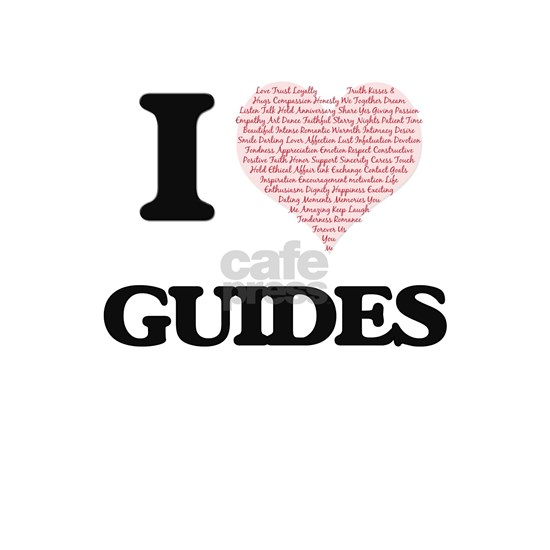I love Guides (Heart made from words)