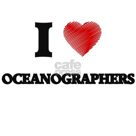 I love Oceanographers (Heart made from words)