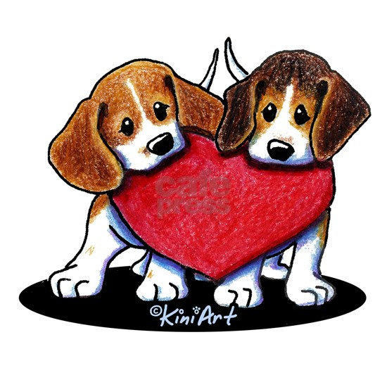 Beagle Heartfelt Duo