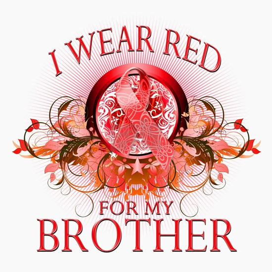 I Wear Red for my Brother (floral)