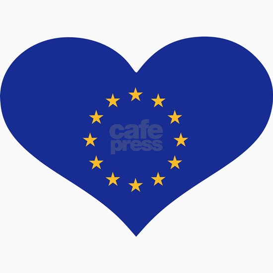 Europe EU flag heart