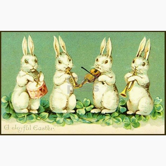 Vintage Musical Easter bunnies