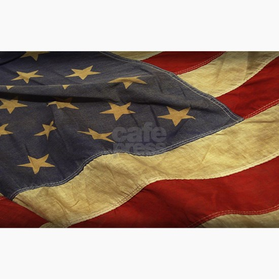 Distressed Vintage American Flag