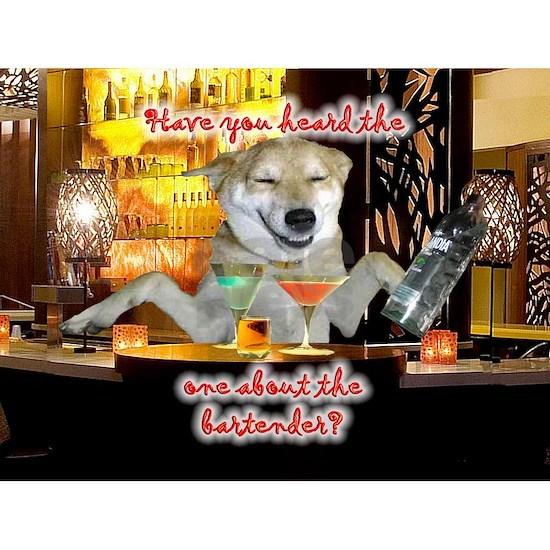 bartender joke 12x16