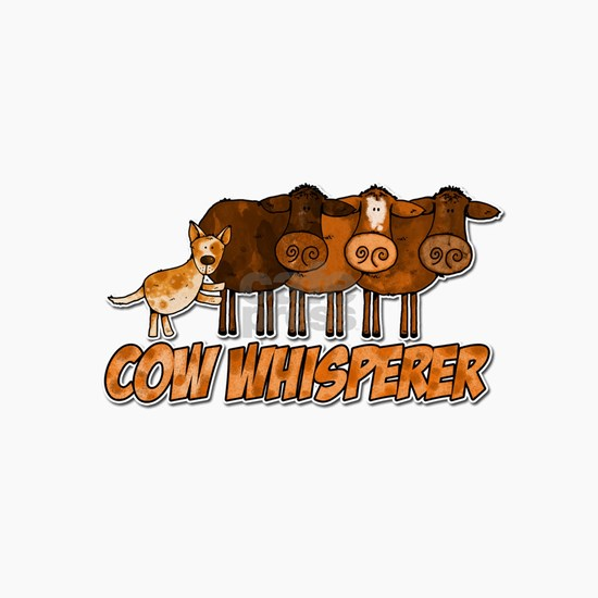 cow whisperer red ceramic