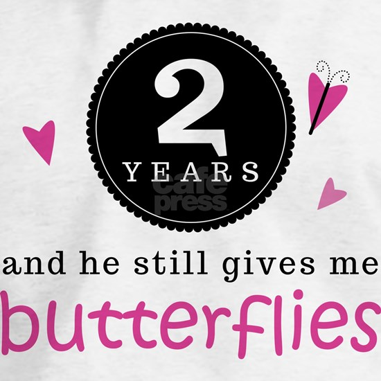 2nd Anniversary Butterflies Blue