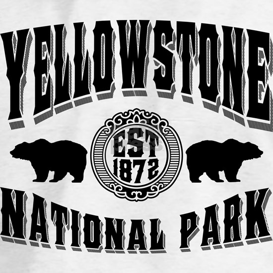 Yellowstone Established 1872 Black