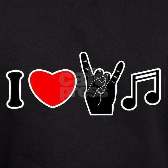 i love rock music hoodie dark i love rock music hoody by deefa cafepress. Black Bedroom Furniture Sets. Home Design Ideas
