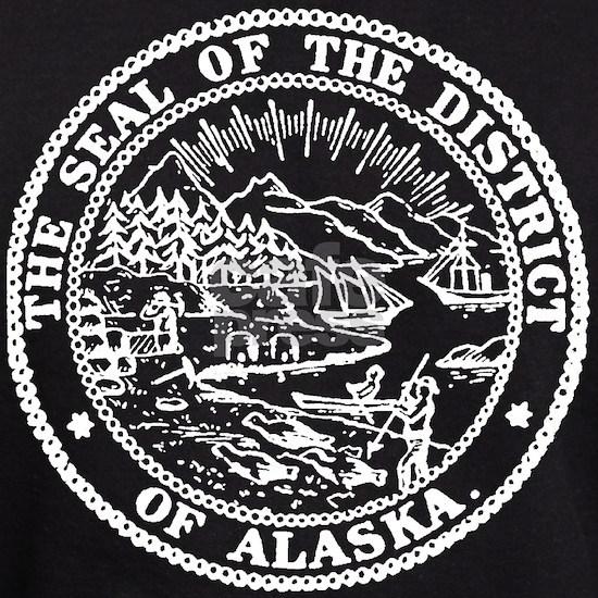 White Alaska State Seal