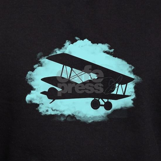 Biplane Cloud Silhouette