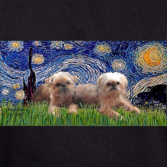 LIC-Starry Night - Two Brussels Griffon