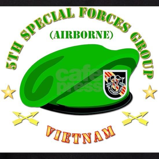 T-Shirt - Emblem - SOF - 5th SFG Beret - Vietnam.