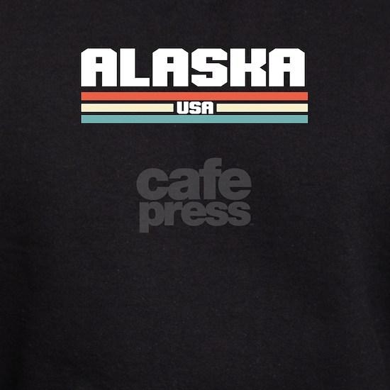 Retro Colors Alaskan Patriotic Alaskan USA America