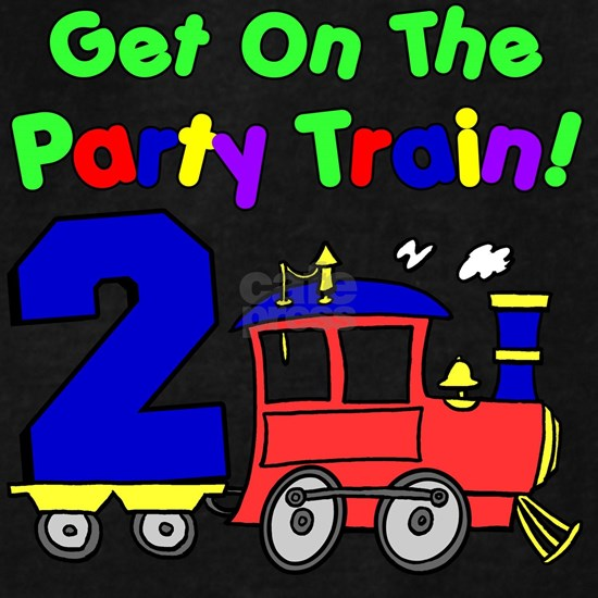 Get On The Party Train 2 Year Old