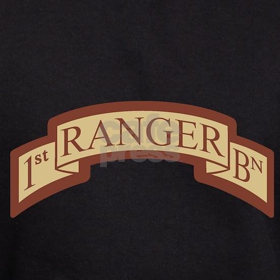 1st Ranger BN Scroll Desert