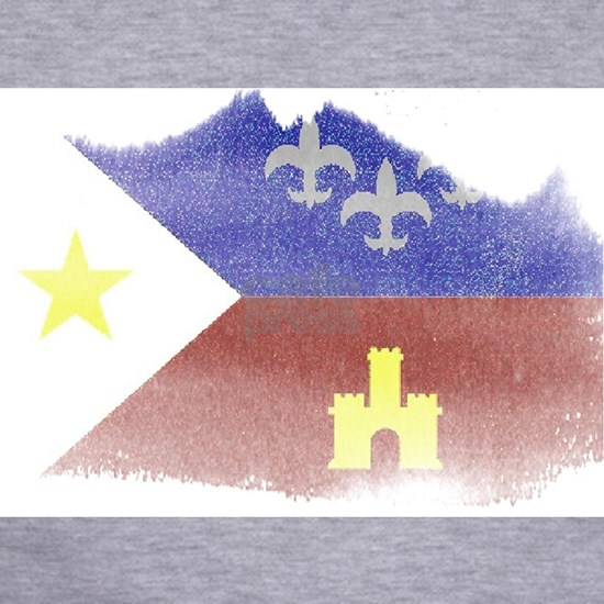 2-cajun flag distressed