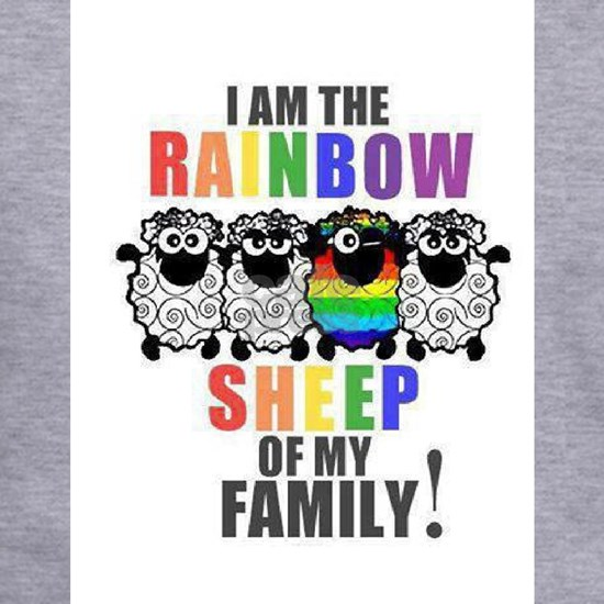 Rainbow Family Sheep