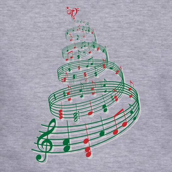 Christmas tree with music notes and heart