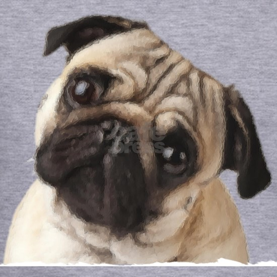 Pug Oil Painting Face