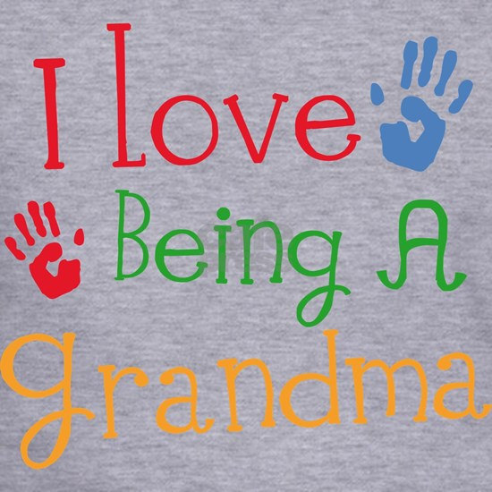 love being a grandma handprint multi