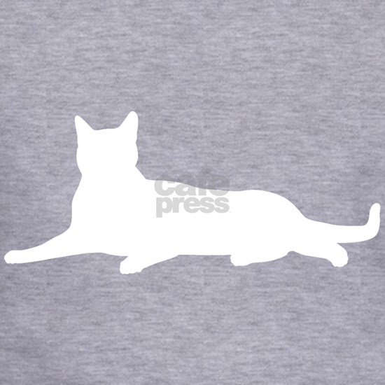Deep heather cat layingTees
