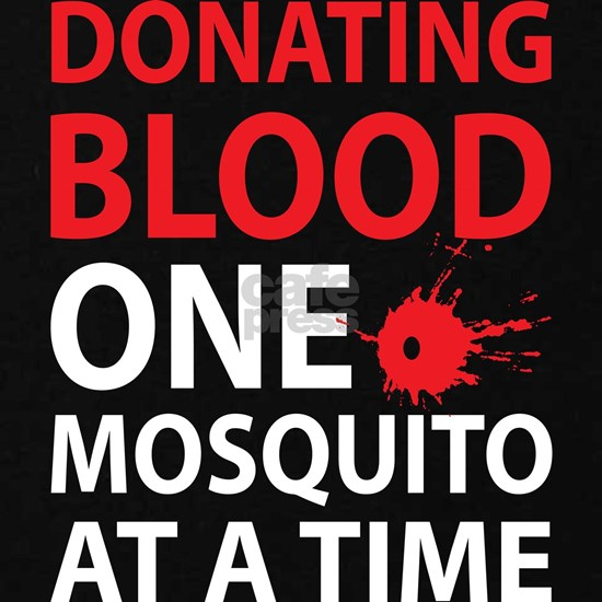 Donating Blood One Mosquito At A Time Zip Hoodie (dark