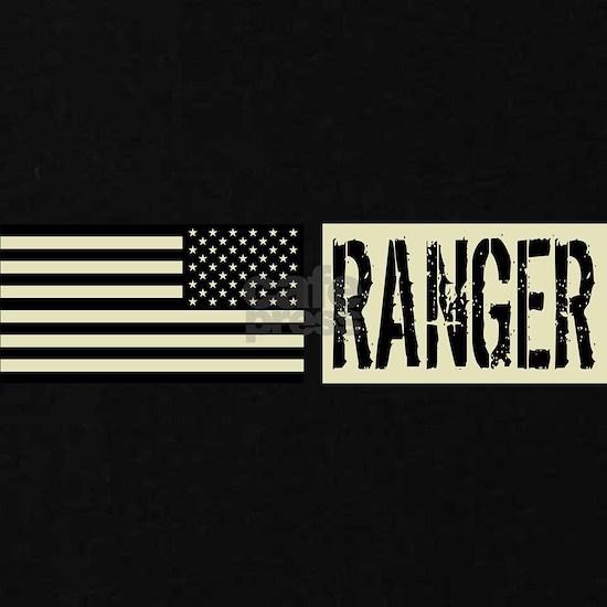U.S. Army Ranger: Black Backwards Flag
