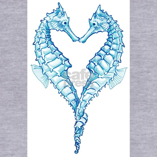 heart seahorses blue