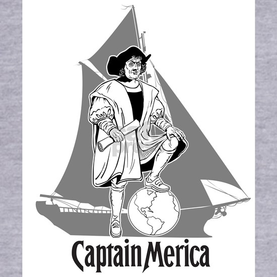 Columbus Day Funny T-Shirt -- Captain Merica
