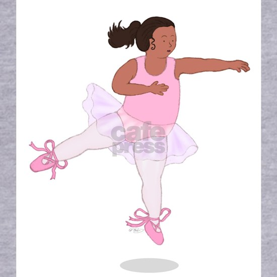 2-Fat Ballerina Leaping Black