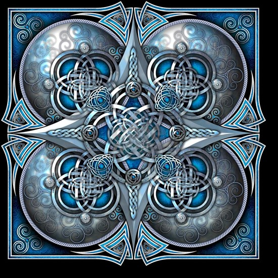 Silver and Blue Celtic Tapestry
