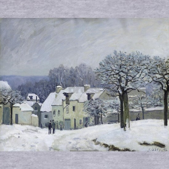 The Place du Chenil at Marly-le-Roi, Snow, 1876, b