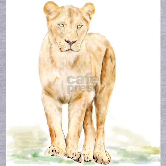 Lioness Watercolor
