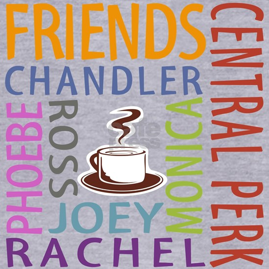 Friends TV Central Perk Word Art