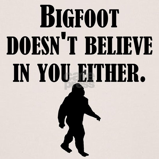 Bigfoot Doesnt Believe In You Either