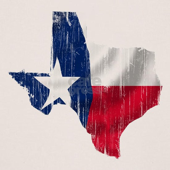 TEXAS SHAPED FLAG Distressed
