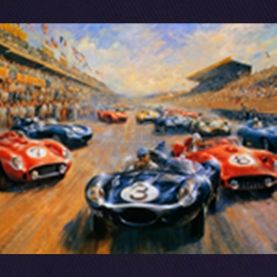 Vintage Car Race Painting