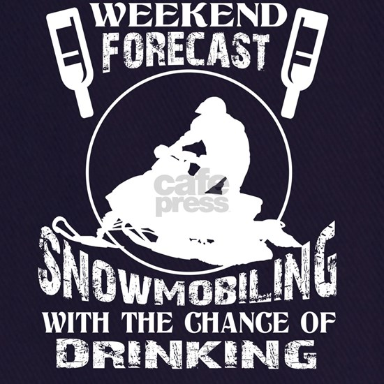 Weekend Forecast Snowmobiling T Shirt