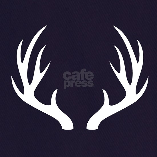 White 12 Point Deer Antlers